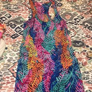 Lily Pulitzer Racerback Silk Dress